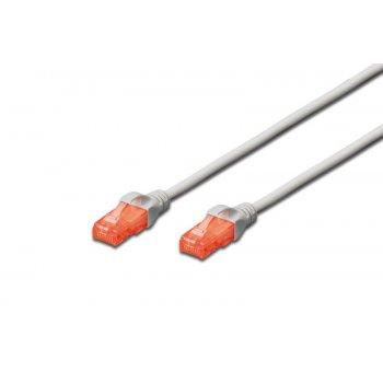 Digitus DK-1617-010 cable de red 1 m Cat6 U UTP (UTP) Gris