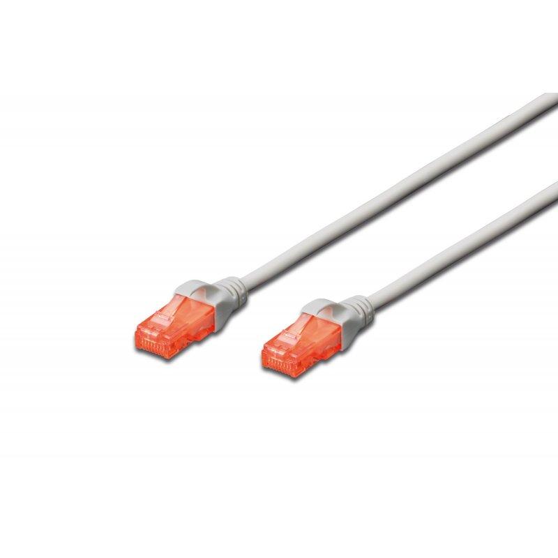 Digitus 0.5m Cat6 U UTP cable de red U UTP (UTP) Gris