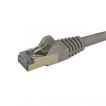 StarTech.com Cable de 1m de Red Ethernet RJ45 Cat6a Blindado STP - Cable sin Enganche Snagless - Gris