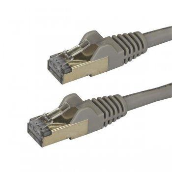 StarTech.com Cable de 2m de Red Ethernet RJ45 Cat6a Blindado STP - Cable sin Enganche Snagless - Gris