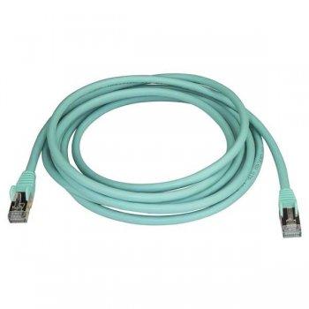 StarTech.com Cable de 3m de Red Ethernet RJ45 Cat6a Blindado STP - Cable sin Enganche Snagless - Aguamarina