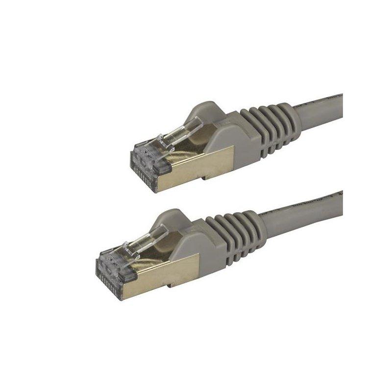 StarTech.com Cable de 3m de Red Ethernet RJ45 Cat6a Blindado STP - Cable sin Enganche Snagless - Gris