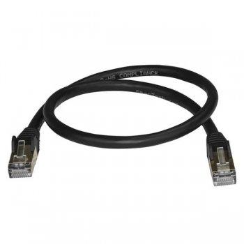 StarTech.com Cable de 0,5m de Red Ethernet RJ45 Cat6a Blindado STP - Cable sin Enganche Snagless - Negro
