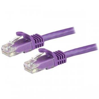 StarTech.com Cable de Red de 1m Púrpura Cat6 UTP Ethernet Gigabit RJ45 sin Enganches