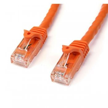 StarTech.com Cable de 2m Naranja de Red Gigabit Cat6 Ethernet RJ45 sin Enganche - Snagless