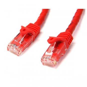 StarTech.com Cable de 2m Rojo de Red Gigabit Cat6 Ethernet RJ45 sin Enganche - Snagless
