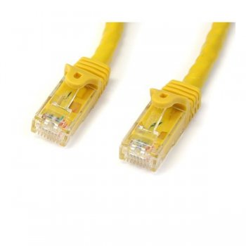 StarTech.com Cable de 2m Amarillo de Red Gigabit Cat6 Ethernet RJ45 sin Enganche - Snagless