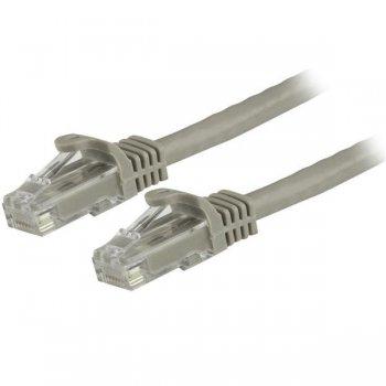 StarTech.com Cable de 3m Gris de Red Gigabit Cat6 Ethernet RJ45 sin Enganche - Snagless