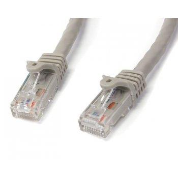 StarTech.com Cable de 0,5m Gris de Red Gigabit Cat6 Ethernet RJ45 sin Enganche - Snagless