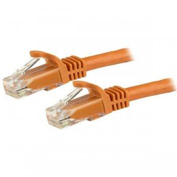 StarTech.com Cable de Red de 0,5m Naranja Cat6 UTP Ethernet Gigabit RJ45 sin Enganches