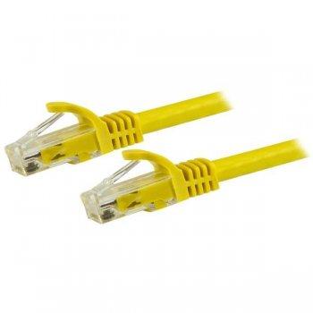 StarTech.com Cable de Red de 0,5m Amarillo Cat6 UTP Ethernet Gigabit RJ45 sin Enganches