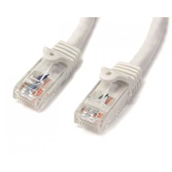 StarTech.com Cable de Red Ethernet Cat6 Sin Enganche de 5m Blanco - Cable Patch Snagless RJ45 UTP