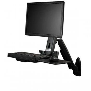 StarTech.com Estación de Trabajo de Pie y Sentado para Montaje en Pared - Para Un Monitor de hasta 24 Pulgadas - Escritorio