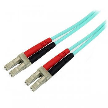 StarTech.com Cable de Fibra Óptica Patch de 10Gb Multimodo 50 125 Dúplex LSZH LC a LC de 5m – Aqua