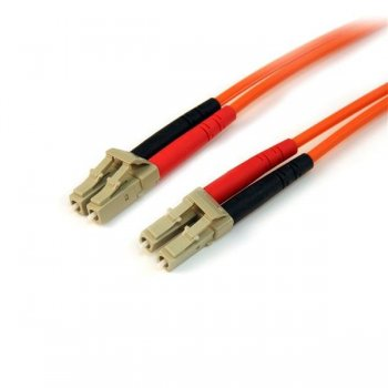 StarTech.com Cable de Red de 15m Multimodo Dúplex Fibra Óptica LC-LC 50 125 - Patch Duplex