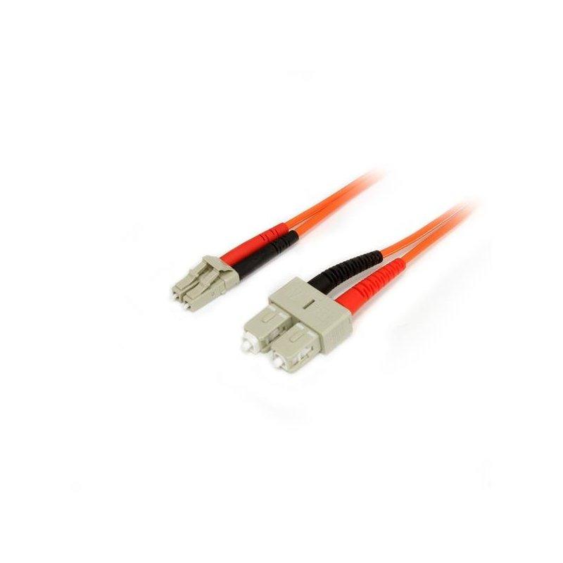 StarTech.com Cable Patch de Fibra Duplex Multimodo 50 125 1m LC - SC