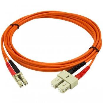 StarTech.com Cable Patch de Fibra Duplex Multimodo 50 125 2m LC - SC