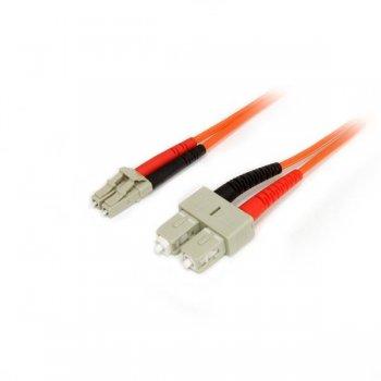 StarTech.com Cable Adaptador de Red de 3m Multimodo Dúplex Fibra Óptica LC-SC 50 125 - Patch Duplex