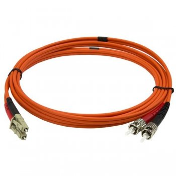 StarTech.com Cable Adaptador de Red de 2m Multimodo Dúplex Fibra Óptica LC-ST 50 125 - Patch Duplex