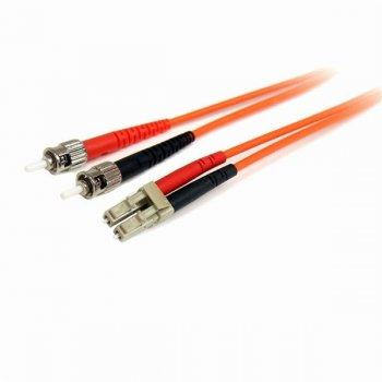 StarTech.com Cable Adaptador de Red de 2m Multimodo Dúplex Fibra Óptica LC-ST 62,5 125 - Patch Duplex