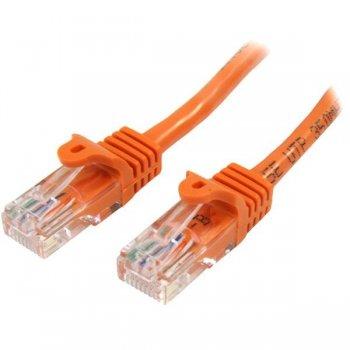 StarTech.com Cable de Red de 5m Naranja Cat5e Ethernet RJ45 sin Enganches
