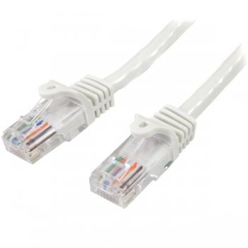 StarTech.com Cable de Red de 5m Blanco Cat5e Ethernet RJ45 sin Enganches