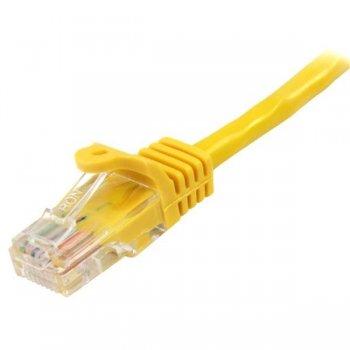 StarTech.com Cable de Red de 5m Amarillo Cat5e Ethernet RJ45 sin Enganches