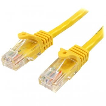 StarTech.com Cable de Red de 10m Amarillo Cat5e Ethernet RJ45 sin Enganches