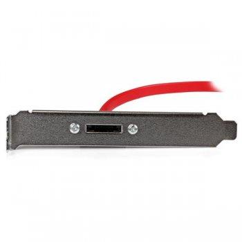 StarTech.com Cabezal Bracket de 1 Puerto SATA a eSATA con Cable de 45cm para Placa Base