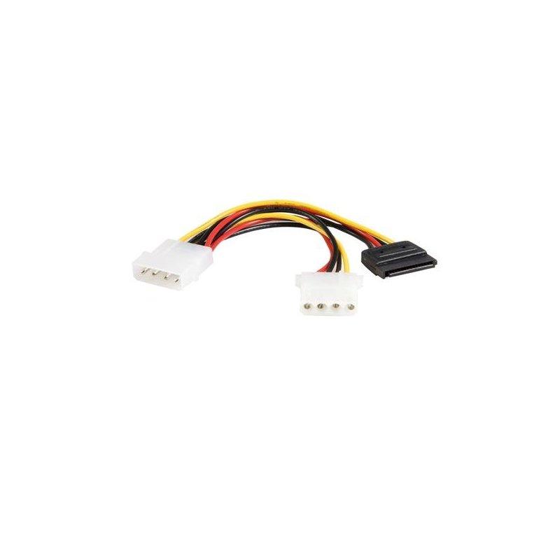StarTech.com 6in LP4 - LP4 SATA Power Y Cable Adapter cable de transmisión Multicolor