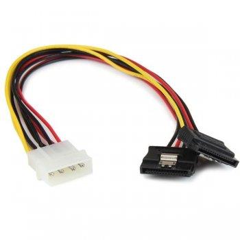StarTech.com Adaptador Cable 30cm Divisor de 4 Pines LP4 a Doble SATA Cierre Seguridad Pestillo Latches