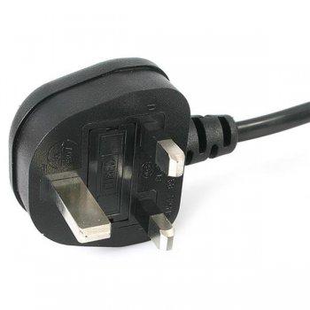 StarTech.com Cable de 2m de Alimentación para Ordenador Portátil - Cable Británico BS-1363 a C5 Hoja de Trébol