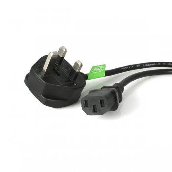 StarTech.com Cable de Alimentación Corriente de 3m para Ordenador C13 a Enchufe Británico Clavija Inglesa - BS 1363