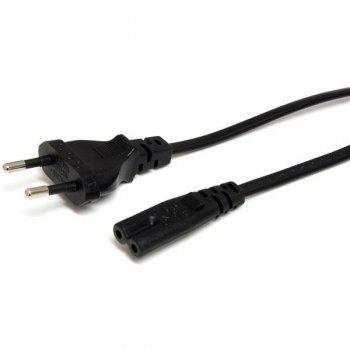 StarTech.com Cable de Alimentación Estándar de 1m para Ordenador Portátil - Cable Europeo a C7 para Laptop
