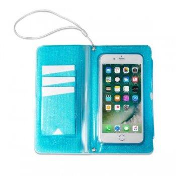 """Celly SPLASHWALL18LB funda para teléfono móvil 15,8 cm (6.2"""") Funda cartera Azul"""
