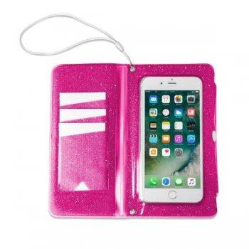 "Celly SPLASHWALL18PK funda para teléfono móvil 14,5 cm (5.7"") Funda cartera Rosa"