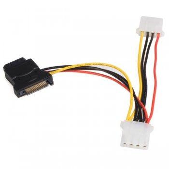 StarTech.com Adaptador de Cable de Alimentación SATA a LP4 con 2 LP4 Adicionales