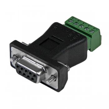 StarTech.com RS422 RS485 Serial DB9 - Terminal Block Adapter Negro