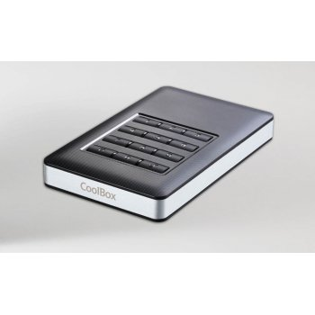"""CoolBox COO-SCK253 caja para disco duro externo 2.5"""" Carcasa de disco duro SSD Negro, Plata"""