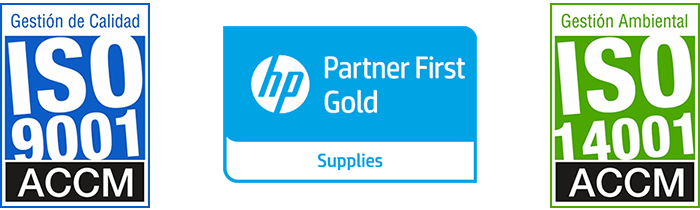 ISO 9001 - ISO 14001 - HP Partner First Gold Supplies